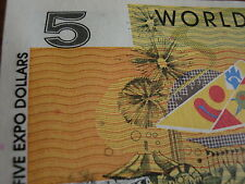 5 DOLLARS  Brisbane Expo  1988  UNC NICE!!