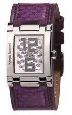 Polierte quadratische Armbanduhren mit Datumsanzeige für Erwachsene