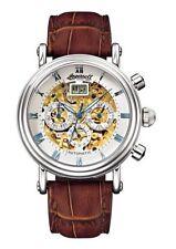 Mechanische (automatische) Armbanduhren mit Skelettuhr-Edelstahl