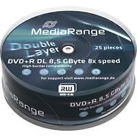 MediaRange CD-, DVD-R-Rohlinge für den Computer mit 8,5GB Speicherkapazität