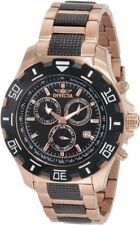 Invicta Gold Plated Band Wristwatches with Date Indicator