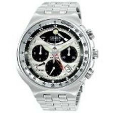 Stainless Steel Band Luxury Round Watches with Chronograph
