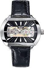 Polierte Mechanisch-(Handaufzug) Armbanduhren aus Edelstahl mit 12-Stunden-Zifferblatt