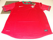 UEFA 2012 Euro Cup Home Red Green Jersey XL Team Portugal Soccer Dri Fit