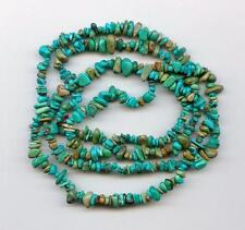 Real Turquoise Loose Pebble Chip Beads 35 Inch Strand Craft or Jewelry