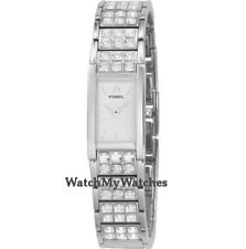 Fossil rechteckige Quarz - (Batterie) Armbanduhren für Damen