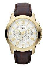 Sportliche Fossil Armbanduhren aus Edelstahl