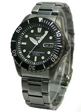 Seiko 5 Sports Round Stainless Steel Band Wristwatches