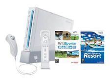 Consoles de jeux vidéo blancs pour Nintendo Wii PAL