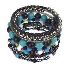 Modeschmuck-Armbänder aus gemischten Metallen mit Türkis-Hauptstein