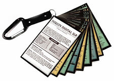 for Nikon: DSLR Cheat Sheet Quick Cards for all models D7500 D5600 D3400 + More!