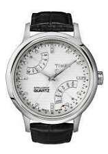 Timex Armbanduhren aus echtem Leder mit Datumsanzeige