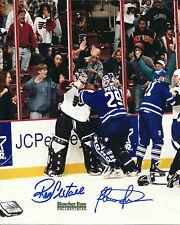 Ron Hextall Felix Potvin NHL Hockey 8x10 Photo Maple Leafs Flyers Dual Signed