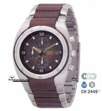 Polierte Fossil Armbanduhren mit Datumsanzeige für Herren