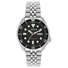 Seiko Stainless Steel Band Men's Round Wristwatches