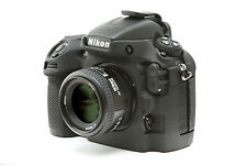 Camera silicone cover for Nikon D800/D800E + Tow LCD Screen Protectors Black
