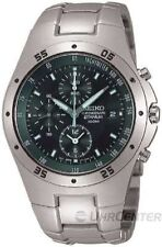 Seiko Adult Round Titanium Case Wristwatches