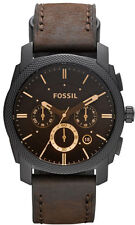 Genuine Leather Band Men's Adult Fossil Watches