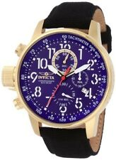 Gold Plated Case Men's Wristwatches with Chronograph