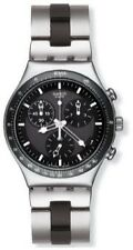 Swatch Stainless Steel Case Round Watches with Chronograph