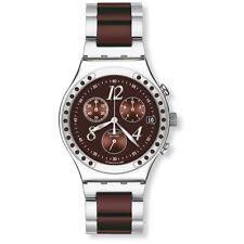 Swatch Irony Armbanduhren mit Edelstahl-Armband und Datumsanzeige für Herren