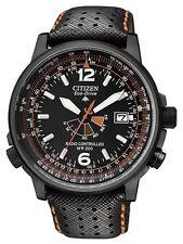Schwarze Citizen Armbanduhren aus Edelstahl