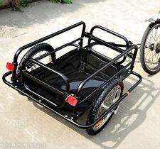 Aosom Folding Bicycle Cargo Trailer Utility Bike Cart Carrier Garden Patio Tool