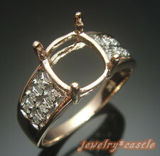 SOLID 10K ROSE GOLD 10x8MM OVAL DIAMOND VINTAGE FINE SEMI MOUNTING WEDDING RING