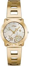 30 m (3 ATM) wasserbeständige Armbanduhren mit Gelbgold für Damen