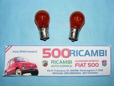 FIAT 500 F/L/R COPPIA LAMPADINE LUCE FRECCE PER FANALINI POSTERIORI ARANCIO P21W
