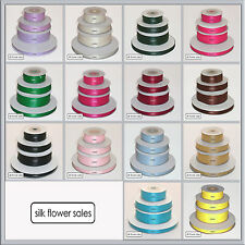Double faced satin ribbon 3mm 10mm 16mm 25mm 38mm 50mm width cut / sample length