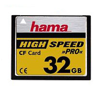 High Speed CompactFlash Camera Memory Cards