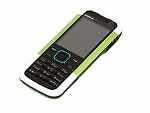 Téléphones mobiles verts avec appareil photo