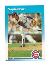 Fleer Rookie Greg Maddux Chicago Cubs Baseball Cards