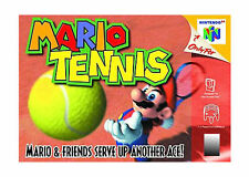 Role Playing Nintendo 64 Tennis Video Games