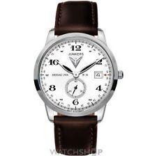 Junkers runde Armbanduhren aus Edelstahl mit Datumsanzeige