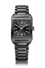 Rechteckige gebürstete Armbanduhren aus Edelstahl für Damen