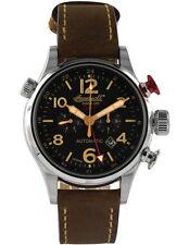 Ingersoll Rand polierte Armbanduhren mit Armband aus echtem Leder für Herren