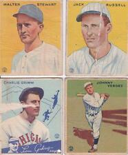 Rookie Pre-WWII (Pre-1942) Original Single Baseball Cards