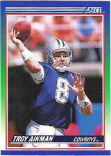 Score Troy Aikman Dallas Cowboys Original Football Cards