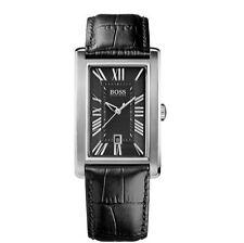 Armbanduhren aus echtem Leder und Edelstahl mit 12-Stunden-Zifferblatt für Herren