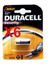 6 piles MN21,12V DURACELL ORIGINALES  23GA A23 K23A LRV08 DLC 2020