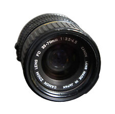 Canon FD Camera Lenses Manual 35-70mm Focal