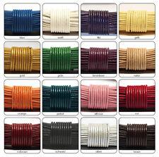 1m Ziegenlederband, weiches Lederband, Lederriemen, Lederbänder, Ø 2mm farbig