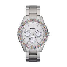 Analoge Fossil Armbanduhren aus Silber