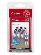 Canon CLI-8 Yellow Genuine/Original Printer Ink Cartridges