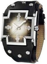 Police quadratische Armbanduhren aus Edelstahl
