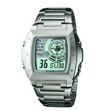 Stainless Steel Band Digital Wristwatches with Alarm