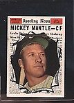 Topps Mickey Mantle Post-WWII (1942-1980) Baseball Cards