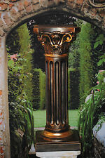 Antik Säule Designe Säulen Blumensäule  Tisch Höhe Gold Schwarz Finish 1037-110